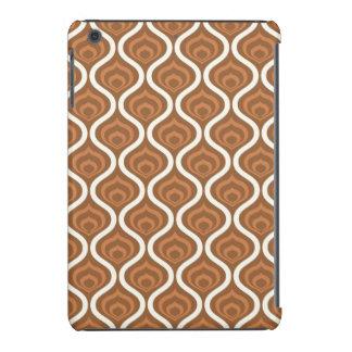 Modelo retro marrón claro y blanco funda de iPad mini