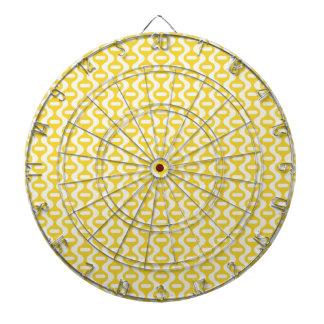 Modelo retro ondulado amarillo brillante tabla dardos