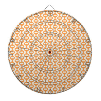 Modelo retro ondulado anaranjado tablero de dardos