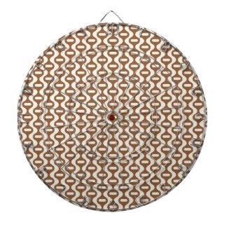 Modelo retro ondulado de Brown Tablero Dardos