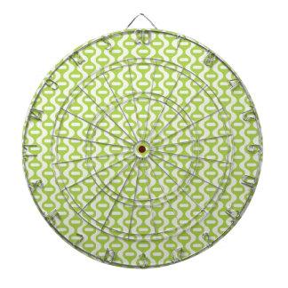 Modelo retro ondulado de la verde lima tablero dardos