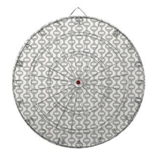 Modelo retro ondulado gris claro tabla dardos