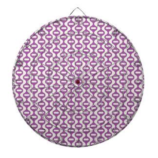 Modelo retro ondulado púrpura de la lavanda tablero dardos