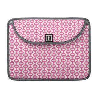 Modelo retro ondulado rosa claro funda para macbook pro