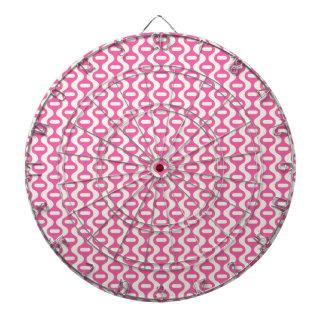 Modelo retro ondulado rosa claro tablero dardos
