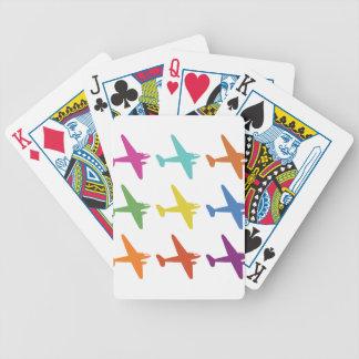 Modelo retro punky del aeroplano del vintage barajas de cartas