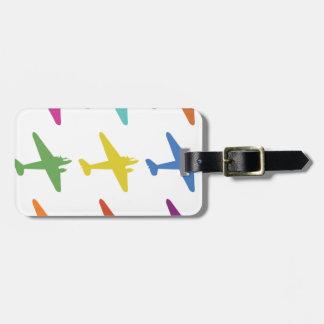 Modelo retro punky del aeroplano del vintage etiquetas bolsas