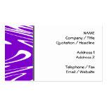 Modelo retro púrpura y blanco plantillas de tarjetas personales