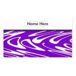 Modelo retro púrpura y blanco tarjetas de negocios