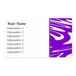 Modelo retro púrpura y blanco tarjetas de visita