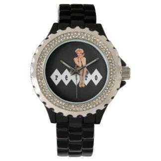 Modelo retro reloj de mano