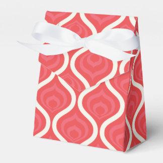 Modelo retro rojo fresco cajas para detalles de boda