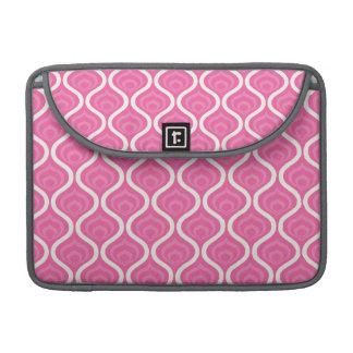 Modelo retro rosa claro y blanco fundas para macbook pro