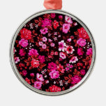 Modelo retro rosado de las margaritas ornamentos de reyes magos