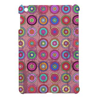 Modelo retro rosado sucio del círculo iPad mini cárcasas