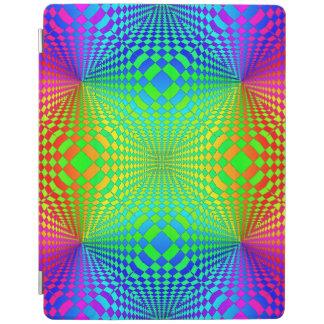 Modelo retro tridimensional maravilloso cover de iPad