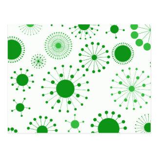Modelo retro verde y blanco de los círculos postal