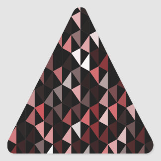 modelo rojo 02 de la pirámide pegatina triangular