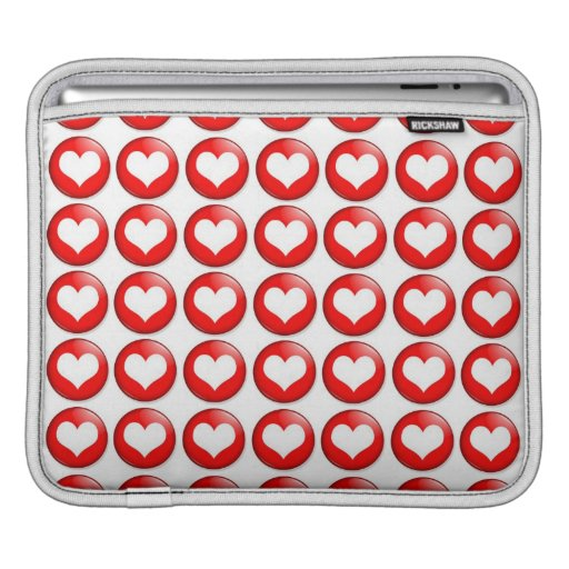 "Modelo rojo 11"" del corazón manga de MacBook Funda Para iPads"