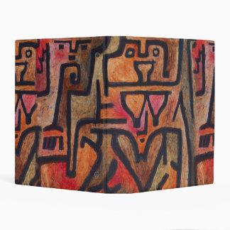 Modelo rojo abstracto del expresionista de Klee Mini Carpeta