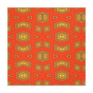 Modelo rojo abstracto geométrico moderno del impresión de lienzo