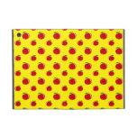 Modelo rojo amarillo de la manzana iPad mini fundas