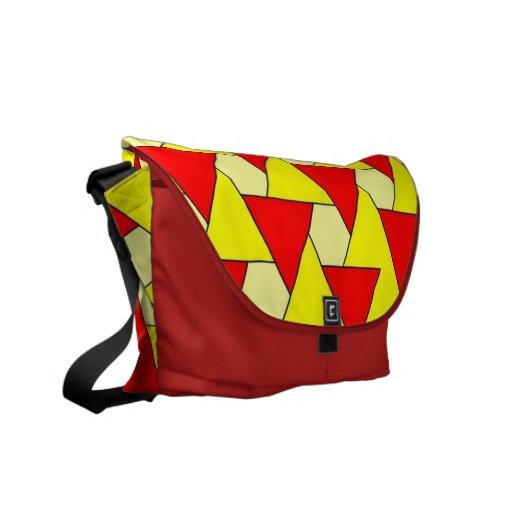 modelo rojo amarillo gráfico bolsas messenger