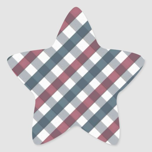 Modelo rojo, blanco y azul de la comida campestre calcomanías forma de estrellas