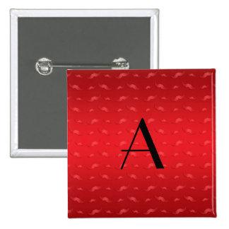 Modelo rojo brillante del bigote del monograma pin