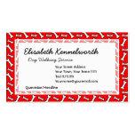 Modelo rojo brillante divertido del hueso de perro tarjetas de visita