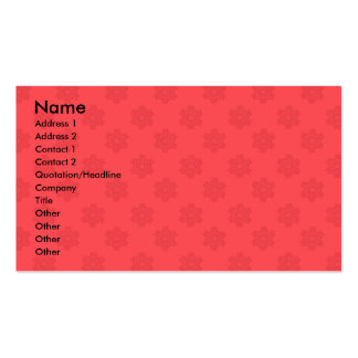Modelo rojo claro de los copos de nieve tarjetas de visita