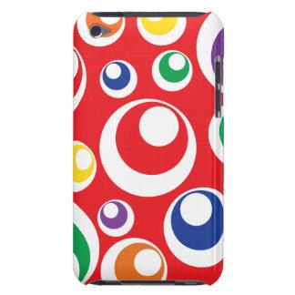Modelo rojo colorido de las bolas de los puntos de iPod touch funda