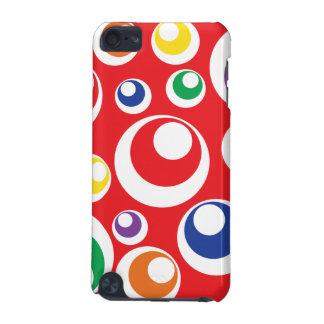 Modelo rojo colorido de las bolas de los puntos de