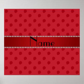 Modelo rojo conocido personalizado de la fresa posters