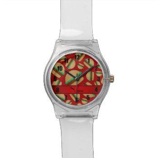 Modelo rojo conocido personalizado de la relojes