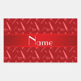 Modelo rojo conocido personalizado de las herramie pegatinas