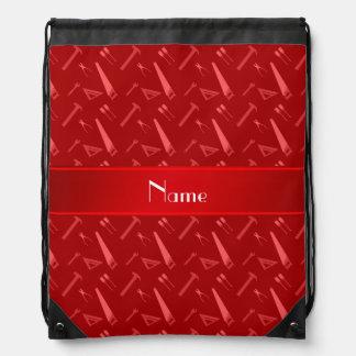 Modelo rojo conocido personalizado de las mochilas