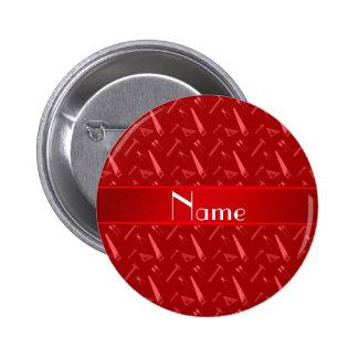 Modelo rojo conocido personalizado de las chapa redonda 5 cm