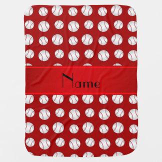 Modelo rojo conocido personalizado de los manta de bebé