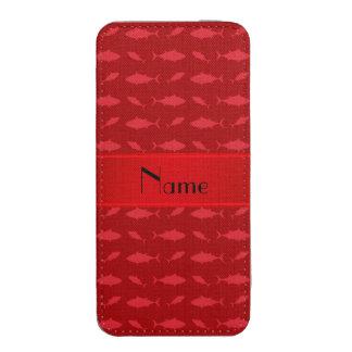 Modelo rojo conocido personalizado del atún de bolsillo para iPhone