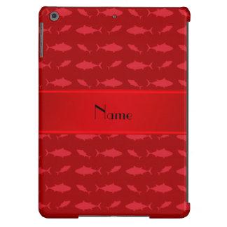 Modelo rojo conocido personalizado del atún de funda para iPad air