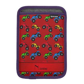 Modelo rojo conocido personalizado del atv fundas iPad mini
