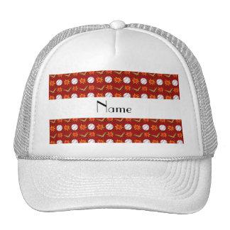 Modelo rojo conocido personalizado del béisbol gorras de camionero