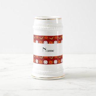 Modelo rojo conocido personalizado del béisbol jarra de cerveza
