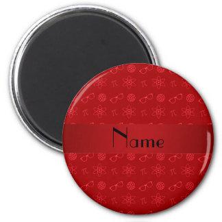 Modelo rojo conocido personalizado del friki imán redondo 5 cm