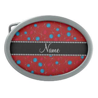 Modelo rojo conocido personalizado del ganchillo hebillas de cinturón ovales