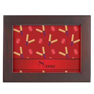 Modelo rojo conocido personalizado del grillo caja de recuerdos