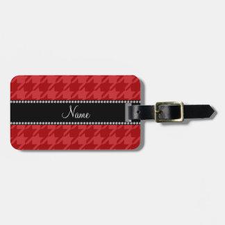 Modelo rojo conocido personalizado del houndstooth etiquetas bolsas