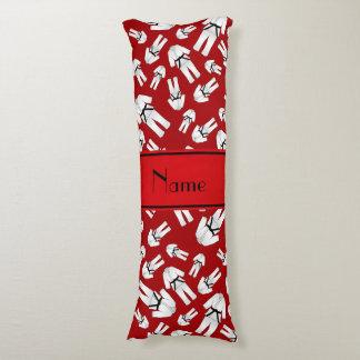 Modelo rojo conocido personalizado del karate almohada
