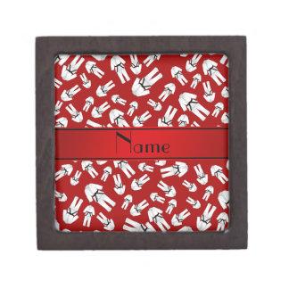 Modelo rojo conocido personalizado del karate cajas de joyas de calidad